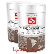 Кава в зернах ILLY BRAZIL MONOARABICA з/б, ( Кофе в зернах ILLY BRAZIL MONOARABICA з/б,)(6*250г)