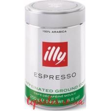 Кава мелена ILLY decaff з/б,(12*250г), ( Кофе молотий  decaff з/б,) (12*250г)