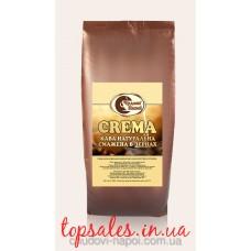 Зернова кава CREMA  Відбірні зерна Ропусти (90%) та Арабіки (10%) середнього обсмаження, 1 кг